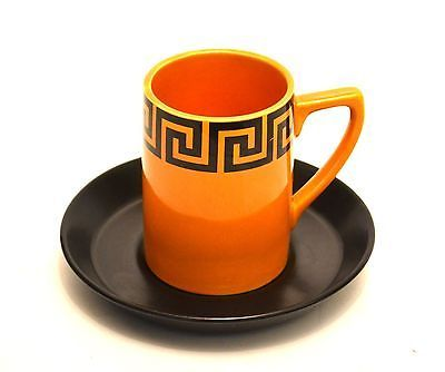 "Portmeirion ""Greek Key"" Coffee Cup and Saucer Designed by Susan William Ellis"