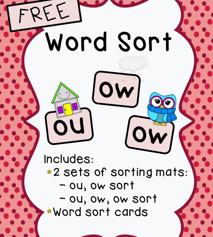 This activity includes: - 2 sets of word sort mats (each in color and black…