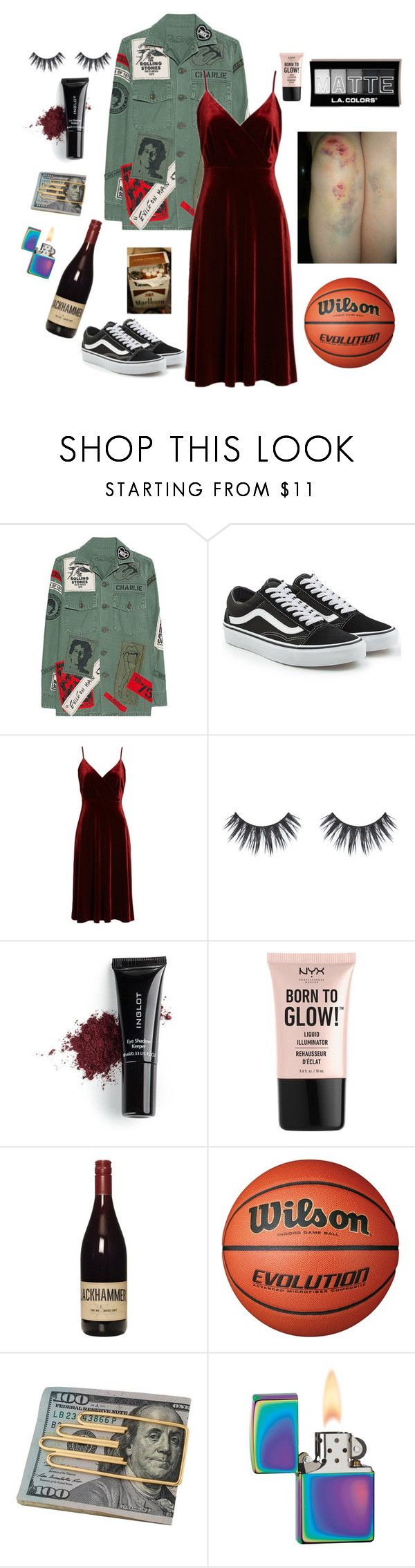 """""""GRADUATE NIGHT"""" by askingdenchik ❤ liked on Polyvore featuring MadeWorn, Vans, Ali & Jay, Inglot, NYX, Cartier, Zippo, school, party and girly"""