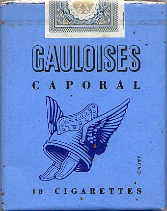 Gauloises Cigarettes Logo-zigsam.at-Frightful cigarettes, even the smoke is blue...