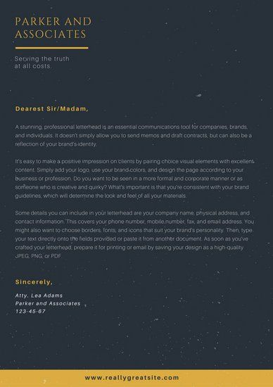 Best Law Firm Letterhead Design Images On   Contact