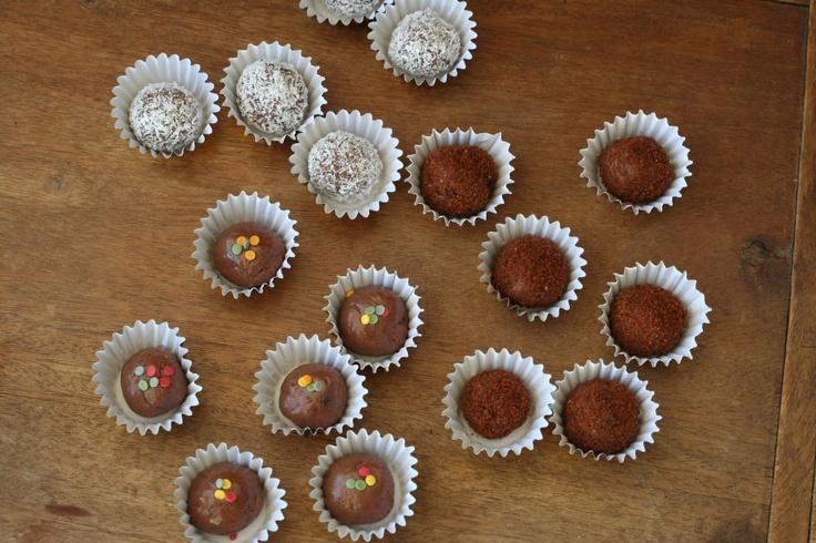 Brigadeiros: Brazilian truffles! Only 3 ingredients, so easy to make.