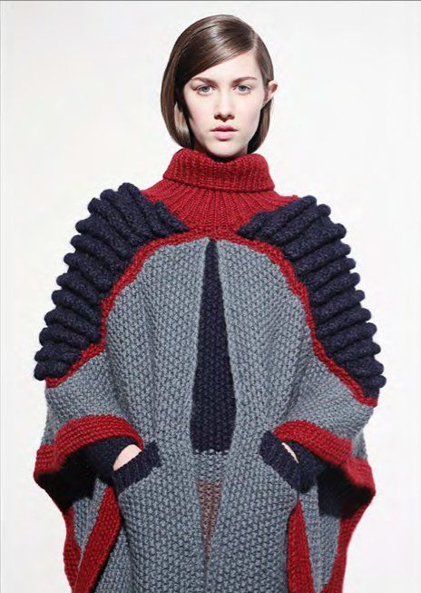 Mix of knit techniques