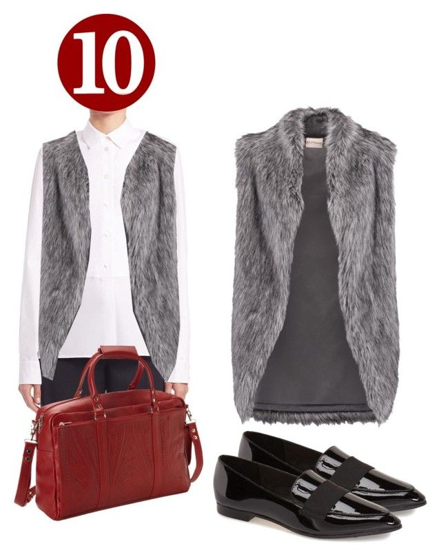 Trend of the decade 8: fur vest by yfantjie on Polyvore featuring STELLA McCARTNEY, DKNY, Kate Spade, Ropin West, polyversary and contestentry