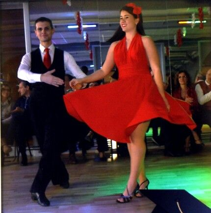Mattea dances Rumba at Arthur Murray for the Show of Valentin's day