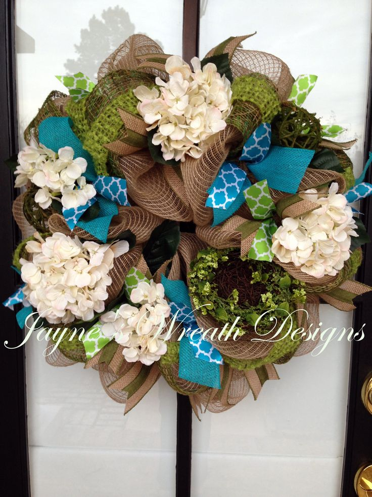 Beautiful Wreath For Spring Summer Or All Year With Moss