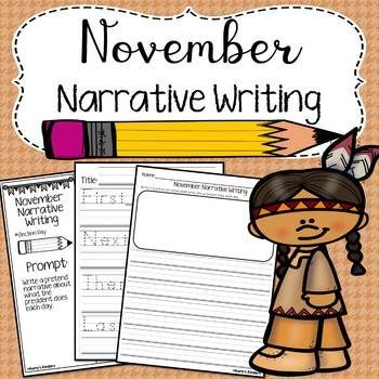 November Narrative Writing has several fall themed writing prompts. Included in each monthly packet are foldable writing prompts with sentence starters (first, next, then, and last) to help students focus on each step of the narrative writing process. There is also a simple lined page for each prompt without sentence starters. This pack includes 7 writing prompts in each format (with and without sentence starters) and will keep your students busy and engaged in their writing!