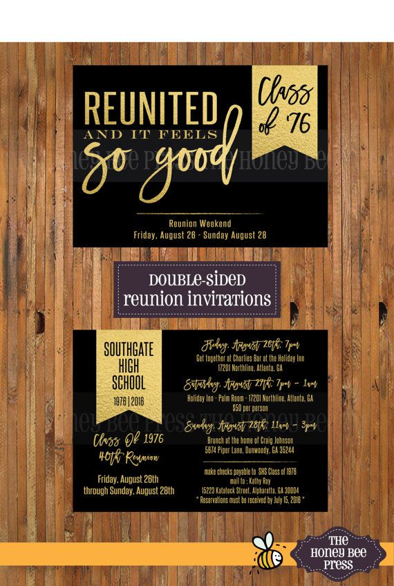 High School Reunion Invitation - Reunited and it feels so good - best of invitation letter sample reunion