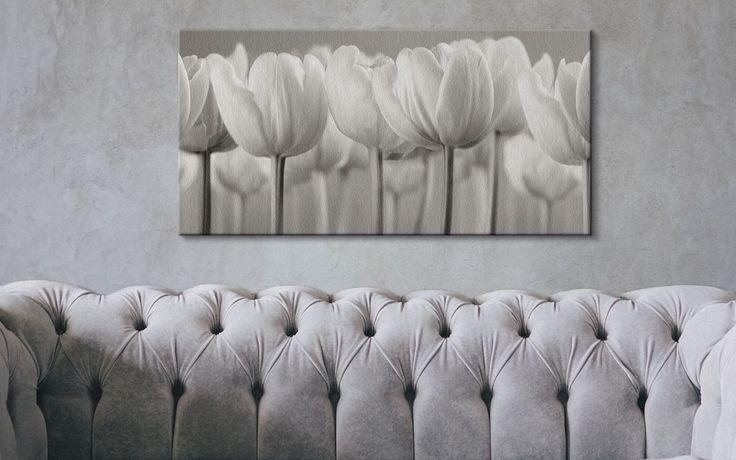 White Tulips - Obraz na płótnie   Sklep ePlakaty.pl