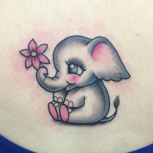 Cute elephant tattoo
