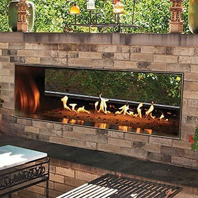 Outdoor 60 SS Manual See-Through Linear Fireplace - Propane - 17 Best Ideas About Outdoor Propane Fireplace On Pinterest Fire