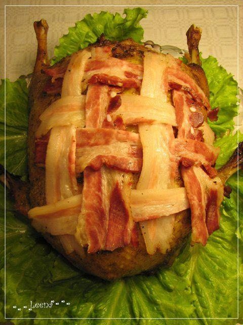 """Фаршированная курица, запеченная в утке """"Мультиптица"""" - кулинарный рецепт"""