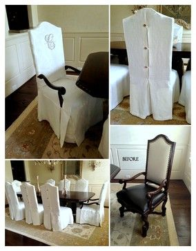 Dining Chair Slipcover Design Ideas, Pictures, Remodel, and Decor