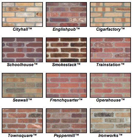 Brick colors and styles pictures to pin on pinterest for Modern brick veneer