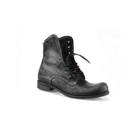 Pánske kožené topánky čierne PT112 - manozo.hu