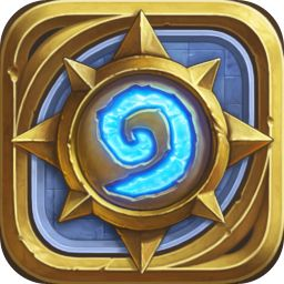 Hearthstone icon  I like how Hearthstone and Lionheart both create very physical looking icons that stand out on your phone/ipad.  I also like how they don't use a tilted perspective as some similar icons do.