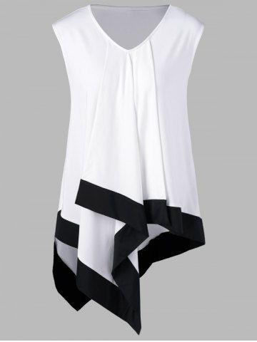 GET $50 NOW | Join RoseGal: Get YOUR $50 NOW!http://m.rosegal.com/plus-size-t-shirts/plus-size-sleeveless-asymmetrical-longline-1080955.html?seid=8599467rg1080955