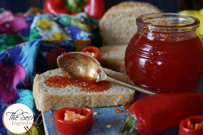 Red Chilli & Red Bell Pepper Jam | Red Chilli and Capsicum Preserve | Red Chilli Sweet Chutney  #RedChilliJam #Jamming