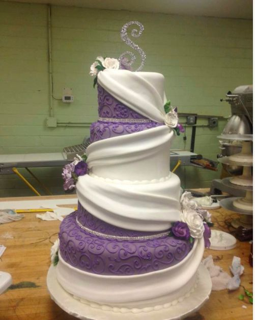 amazing purple wedding cakes