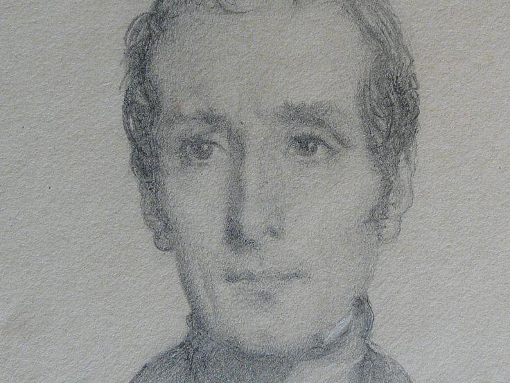 CHASSERIAU Théodore,1844 - Portrait de Lamartine - drawing - Détail 02