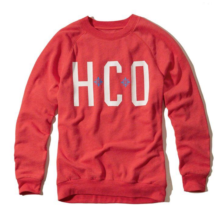 Hollister Womens Long Sleeve Sweatshirt Red