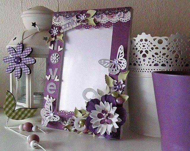 Kreatywny blog Koczes: Na fioletowo dla dziewczynki- ramka