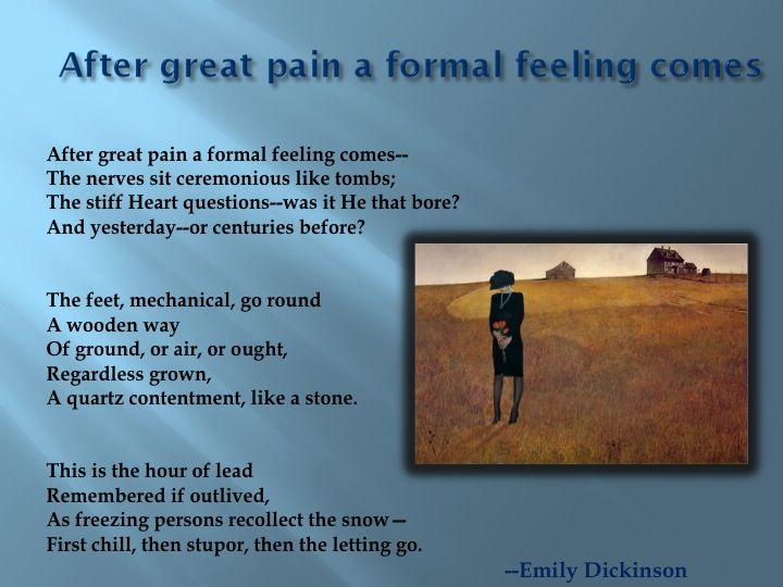 After Great Pain, a Formal Feeling Comes Summary