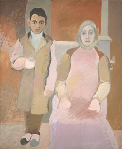 Arshile Gorky - The Artist and His Mother. c.1926-c.1942. Oil on canvas. 60 x 50 in. (152.4 x 127 cm). National Gallery of Art, DC. Ailsa Mellon Bruce Fund, 1979.