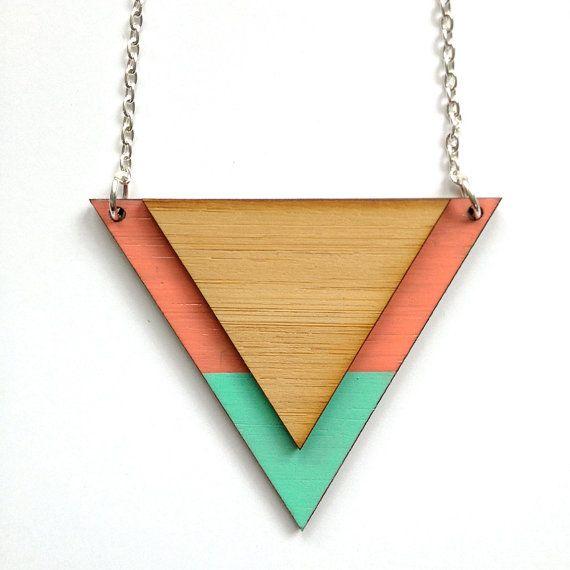 Pom by Pomegranate - Pastel triangle pendant