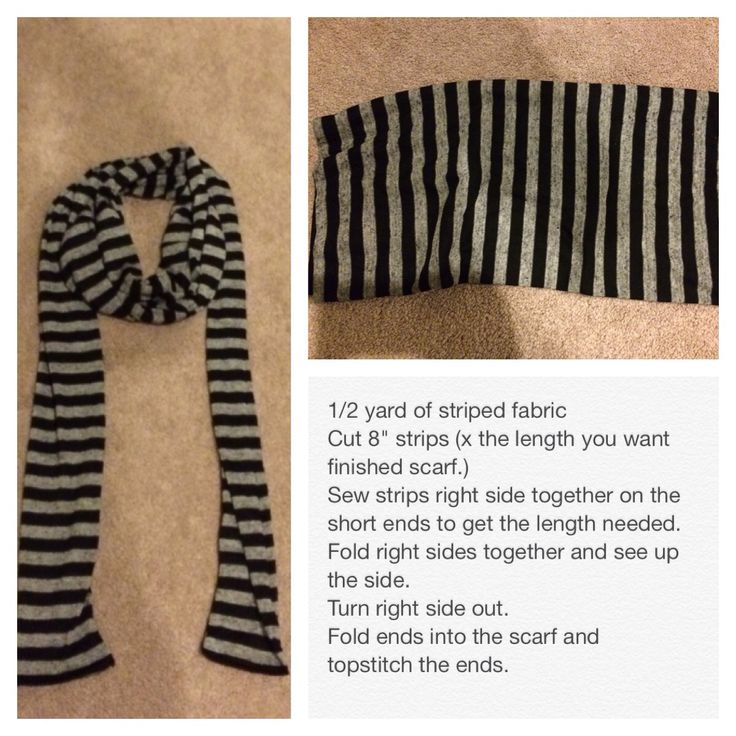 "Make a scarf for your ""Gru"" costume."