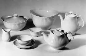 """Porsgrund porselen, """"Spire"""" - vintage dinner set"""
