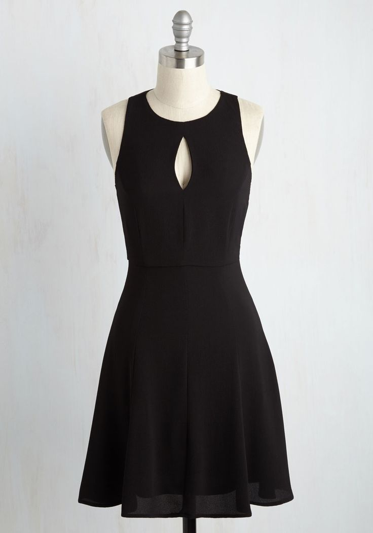 Keen About Keyholes Dress in Black