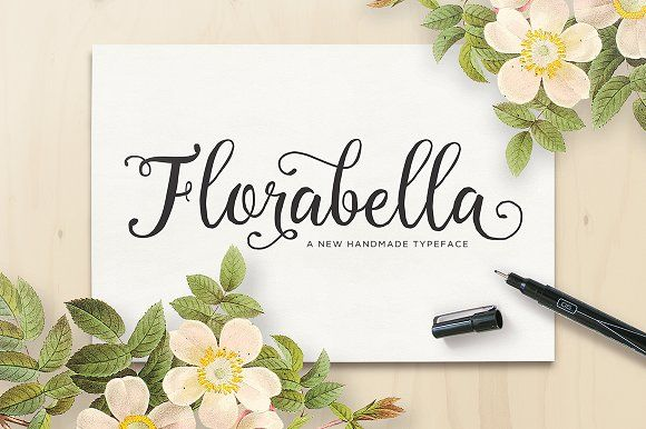 Florabella Script (40% Off) by Seniors on @creativemarket