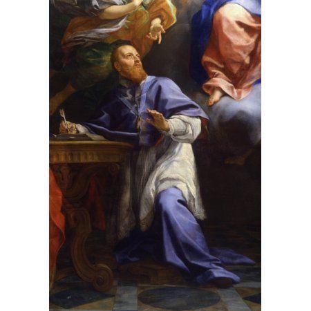 Madonna With Child And Saint Francis From Sales (Madonna Con Il Bambino E San Francesco Di Sales) Canvas Art - (24 x 36)