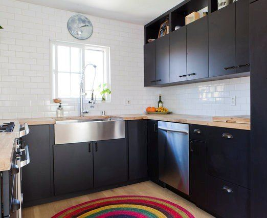 Scott's Well-Designed Duplex (With a Sunny Yellow Sofa) | Kitchens | Pinterest | Kitchen, House and Home kitchens