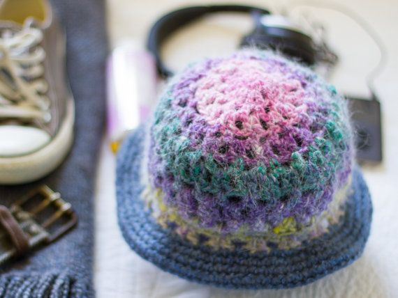 Crochet Hat  Hand Made Lacy Closhe  Rainbow by footfetishsocks