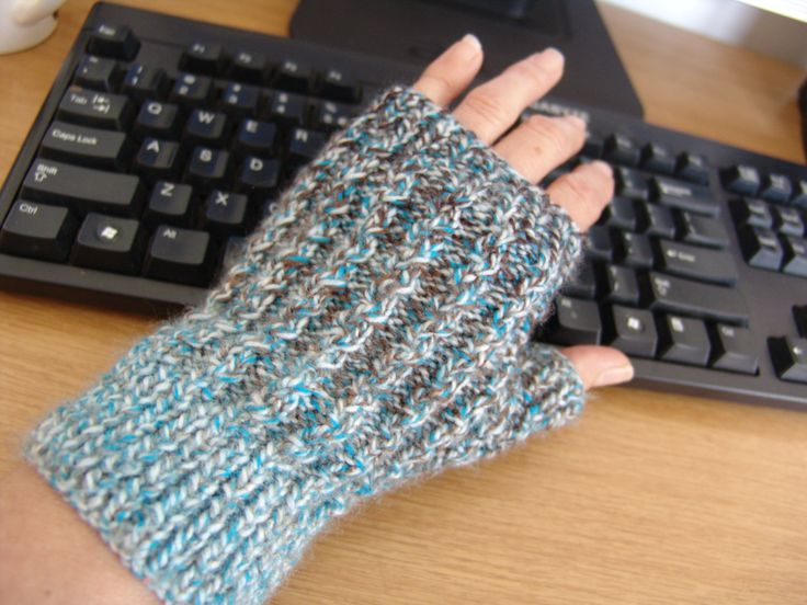 """Cabled Mitts in Elle DK 'Earth"""""""