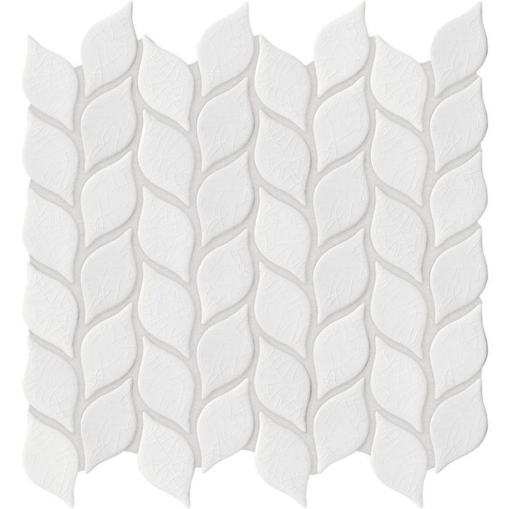 Anatolia Tile Vanilla Leaf Mosaic Ceramic Wall Tile