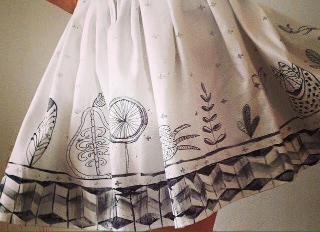 Koidanov's handmade hand draw skirt