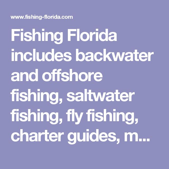 Fishing Florida includes  backwater and offshore fishing, saltwater fishing, fly fishing, charter guides, maps, tides, seasons and species, fishing report, photos, articles on fly fishing basics