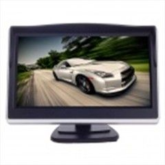XY-2050 4.3  TFT LCD 1.3W Car Security Reversing Rearview System Monitor - Black + Silver