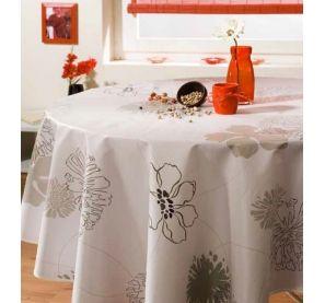 Nappe toile cirée ronde 180 cm - Ring flower sur www.ac-deco.com