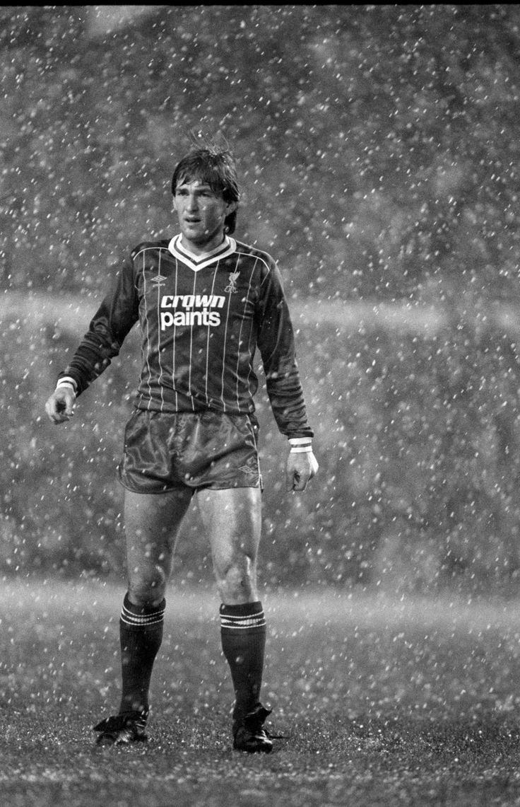Kenny Dalglish in action in heavy snow during the League Cup 5th Round game at Anfield against West Ham United on January 18 1983.