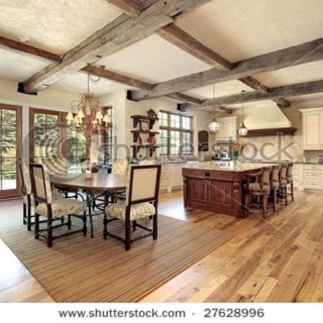 Rustic Open Kitchen Designs 82 best new house ideas kitchrn/living room images on pinterest