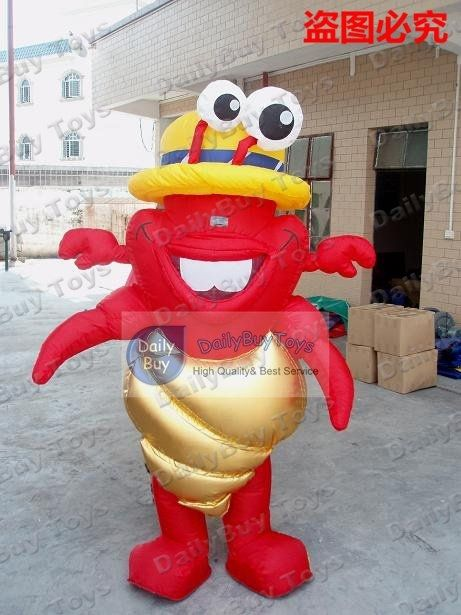 418.95$  Buy here - http://alixcz.worldwells.pw/go.php?t=536985656 - DC18 langouste / lobster inflatable Moving Cartoon &air blower fan/ Red Inflatable Crab,advertising inflatable crawfish for sale