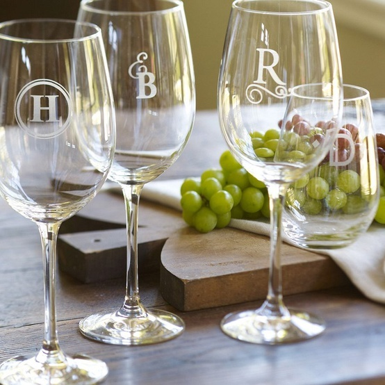 A personal touch to stemware.