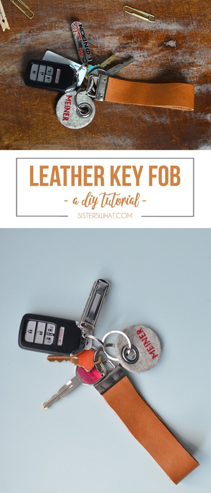 This leather key fob is so quick and easy to make, perfect for gifts!