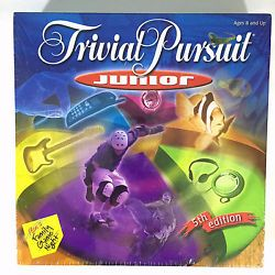 Trivial Pursuit Junior 5th Edition Board Game Hasbro 2001 Ages 8 and Up New