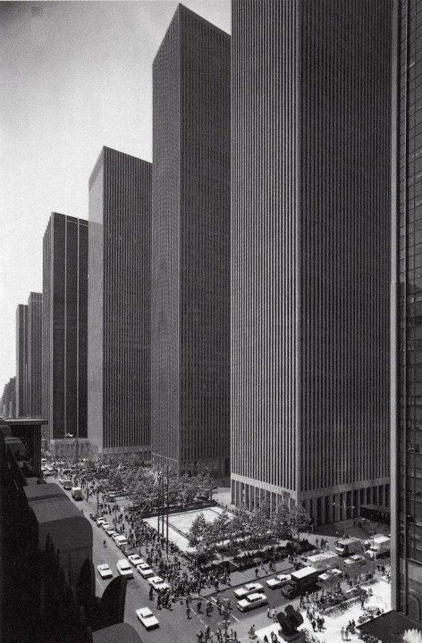 NYC. Manhattan. Skyscrapers on 6th Avenue, 1974