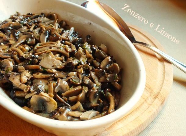Funghi trifolati - ricetta autunnale